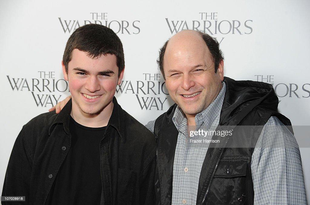 Actor Jason Alexander (R) and his son Noah Alexander arrive at 'The Warrior's Way' screening held at CGV Cinemas on November 19, 2010 in Los Angeles, California.