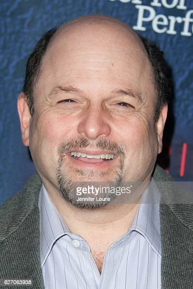 Actor Jason Alexander arrives at the Opening Night of 'Merrily We Roll Along' at the Wallis Annenberg Center for the Performing Arts on November 30...