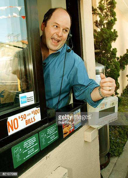 Actor Jason Alexander made a surprise visit to the neighborhood KFC restaurant along 3rd Street in Los Angeles June 14 to tell arriving motorists...