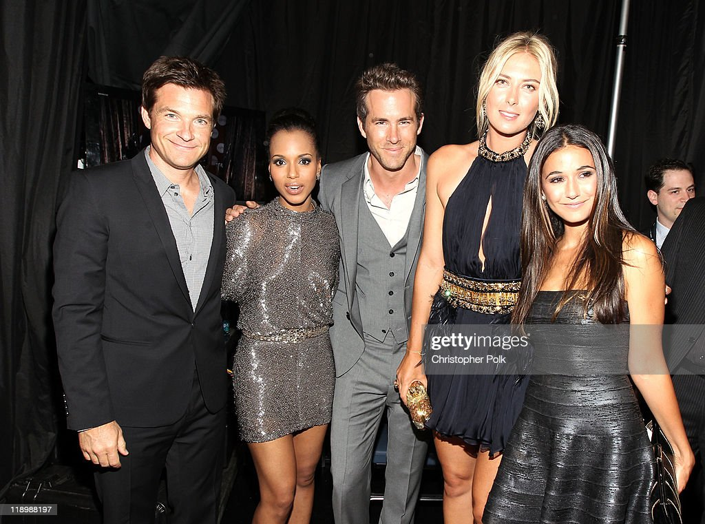 Actor Jason Bateman, actress Kerry Washington, actor Ryan Reynolds, professional tennis player Maria Sharapova and actress Emmanuelle Chriqui attend The 2011 ESPY Awards at Nokia Theatre L.A. Live on July 13, 2011 in Los Angeles, California.