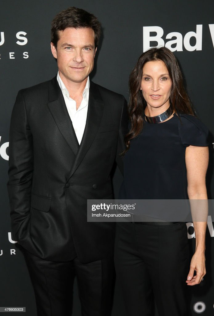 Actor <a gi-track='captionPersonalityLinkClicked' href=/galleries/search?phrase=Jason+Bateman&family=editorial&specificpeople=204774 ng-click='$event.stopPropagation()'>Jason Bateman</a> (L) and actress <a gi-track='captionPersonalityLinkClicked' href=/galleries/search?phrase=Amanda+Anka&family=editorial&specificpeople=2465465 ng-click='$event.stopPropagation()'>Amanda Anka</a> attend the premiere of Focus Features' 'Bad Words' at ArcLight Cinemas Cinerama Dome on March 5, 2014 in Hollywood, California.