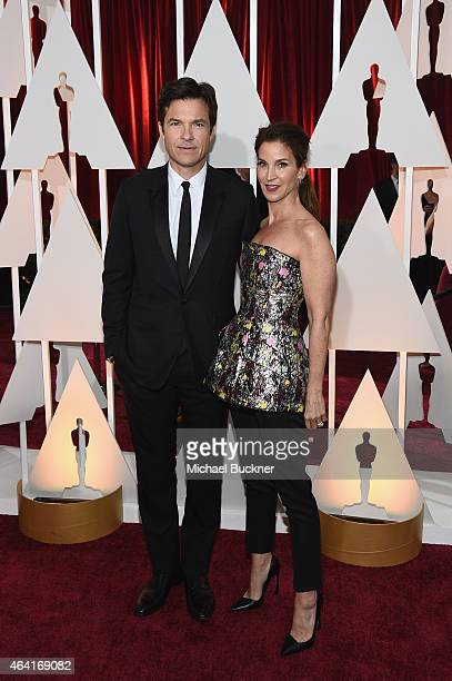 Actor Jason Bateman and Amanda Anka attend the 87th Annual Academy Awards at Hollywood Highland Center on February 22 2015 in Hollywood California