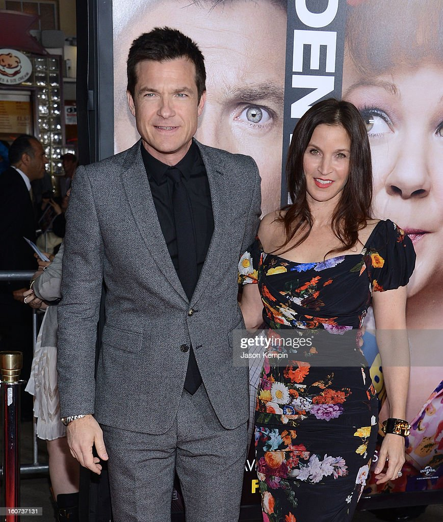Actor Jason Bateman and Amanda Anka attend the Premiere Of Universal Pictures' 'Identity Thief' on February 4, 2013 in Westwood, California.