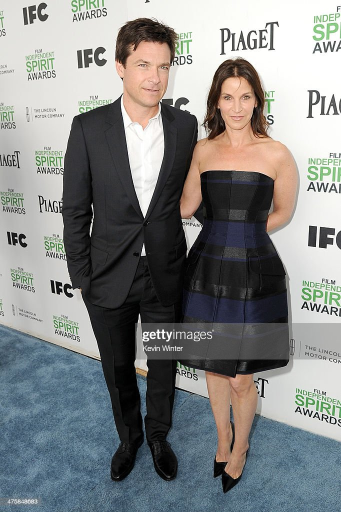 Actor Jason Bateman and wife Amanda Anka attend the 2014 Film Independent Spirit Awards at Santa Monica Beach on March 1, 2014 in Santa Monica, California.