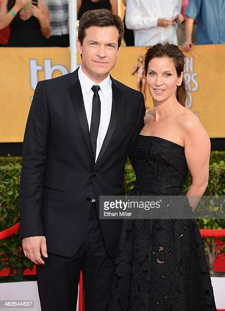 Actor Jason Bateman and wife Amanda Anka attend the 20th Annual Screen Actors Guild Awards at The Shrine Auditorium on January 18 2014 in Los Angeles...