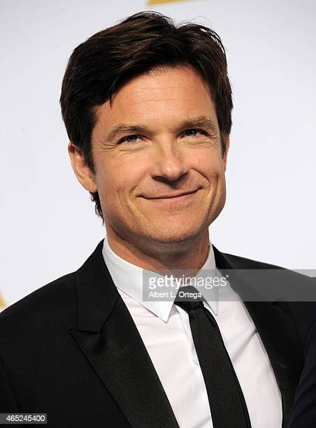 Actor Jason Bateman poses inside the press room of the 87th Annual Academy Awards held at Loews Hollywood Hotel on February 22 2015 in Hollywood...