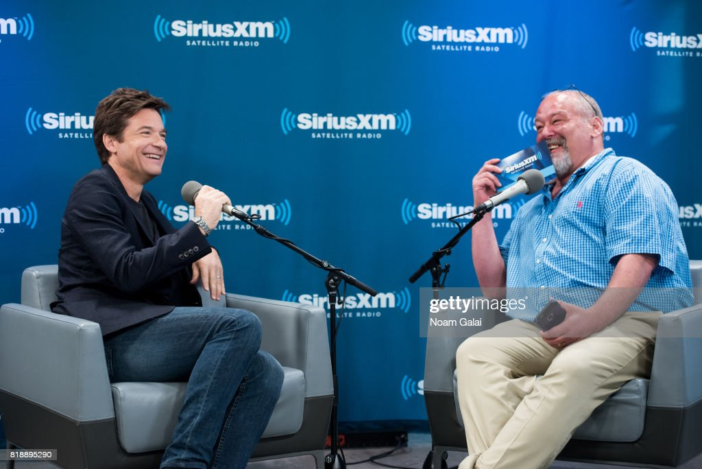 Actor Jason Bateman speaks with Larry Flick at the SiriusXM Studios on July 19, 2017 in New York City.