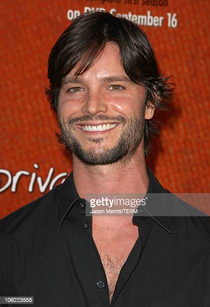 Actor Jason Behr and actress KaDee Stickland arrive to the Private Practice Complete First SeasonExtended Edition DVD Launch Party in Hollywood...