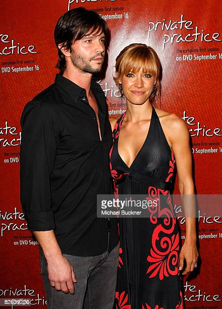 Actor Jason Behr and actress KaDee Strickland arrive at the release party for the 'Private Practice The Complete First Season' DVD on September 2...