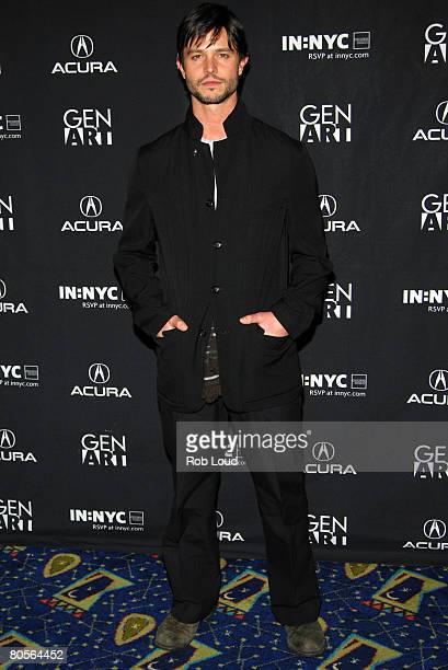 Actor Jason Behr poses at the premeire of 'Frost' at the 13th Annual Gen Art Film Festival at the Visual Arts Center on April 7 2008 in New York City