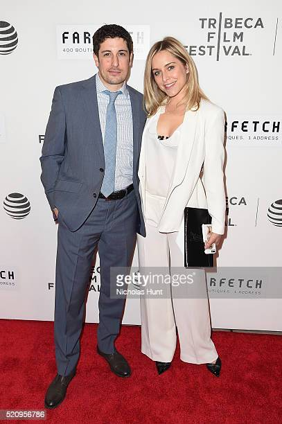 Actor Jason Biggs and Jenny Mollen attend the 'First Monday In May' world premiere during the 2016 Tribeca Film Festival opening night at BMCC John...