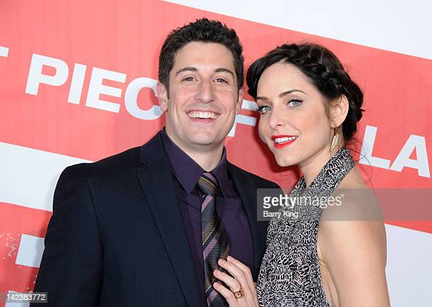 Actor Jason Biggs and wife Jenny Mollen arrive at the Los Angeles Premiere 'American Reunion' at Grauman's Chinese Theatre on March 19 2012 in...