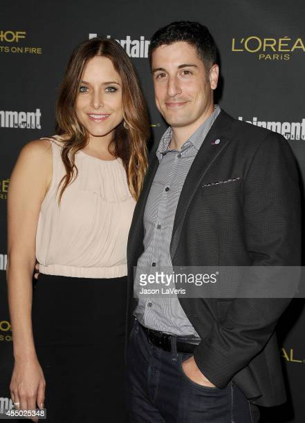 Actor Jason Biggs and wife Jenny Mollen attend the 2014 Entertainment Weekly preEmmy party at Fig Olive Melrose Place on August 23 2014 in West...