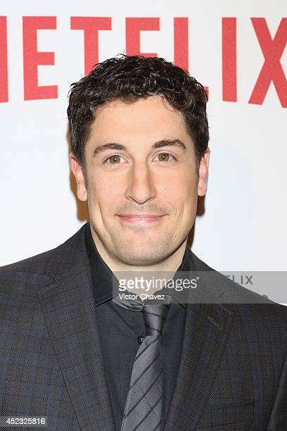 Actor Jason Biggs attend the Orange Is The New Black second season red carpet at Fotomuseo Cuatro Caminos on July 17 2014 in Mexico City Mexico