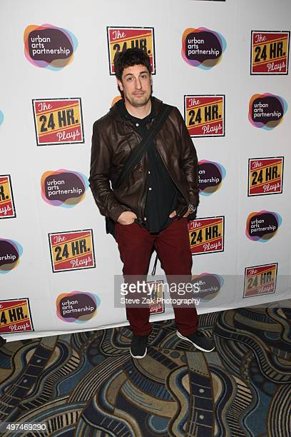 Actor Jason Biggs attends the 2015 24 Hour Plays On Broadway Gala at American Airlines Theatre on November 16 2015 in New York City