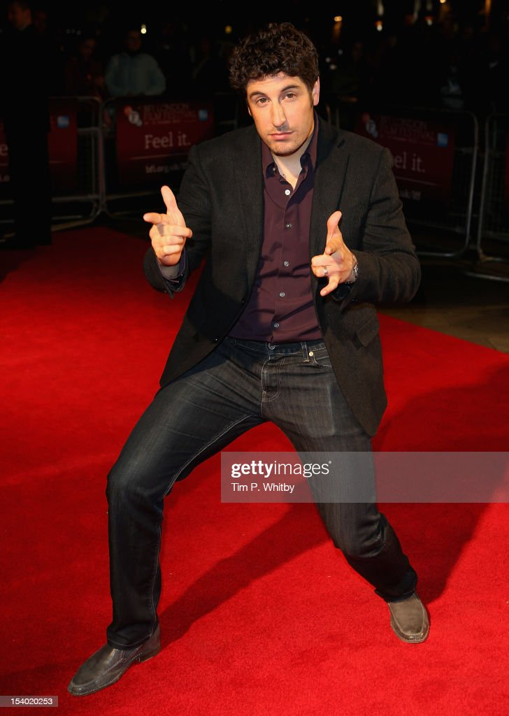 Actor Jason Biggs attends the 'Grassroots' premiere during the 56th BFI London Film Festival at the Odeon West End on October 12, 2012 in London, England.