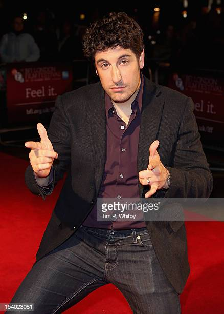 Actor Jason Biggs attends the 'Grassroots' premiere during the 56th BFI London Film Festival at the Odeon West End on October 12 2012 in London...