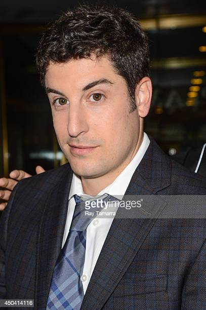 Actor Jason Biggs leaves the 'Today Show' taping at the NBC Rockefeller Center Studios on June 10 2014 in New York City