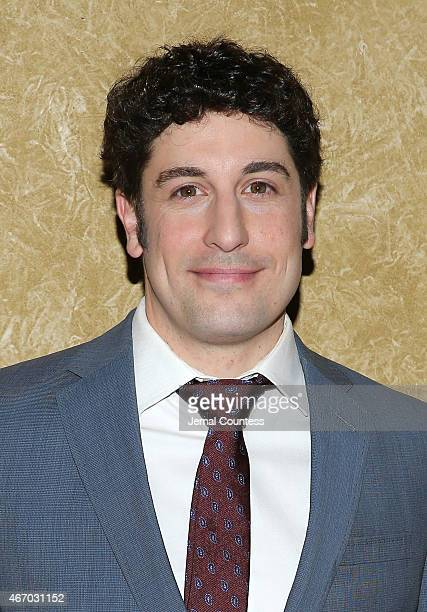 Actor Jason Biggs poses for a photo at 'The Heidi Chronicles' Broadway Opening Night at The Music Box Theatre on March 19 2015 in New York City