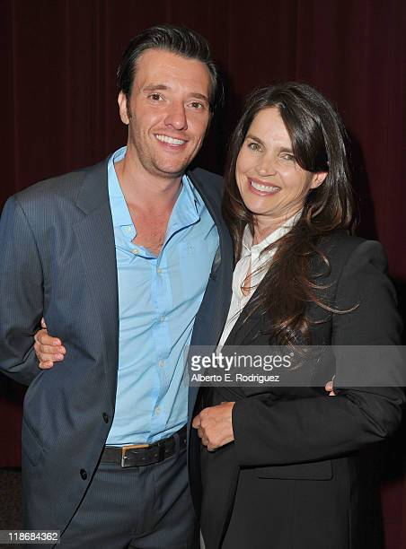 Actor Jason Butler Harner and actress Julia Ormond attend the 29th Annual Los Angeles Gay Lesbian Film Festival's premiere of 'The Green' at the...