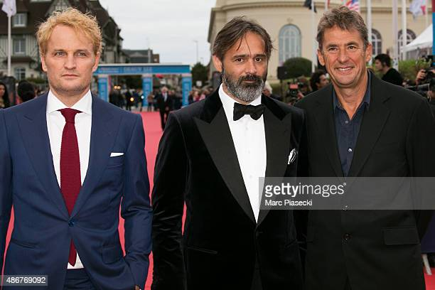 Actor Jason Clarke director Baltasar Kormakur and producer Tim Bevan attend the 41st Deauville American Film Festival Opening Ceremony on September 4...