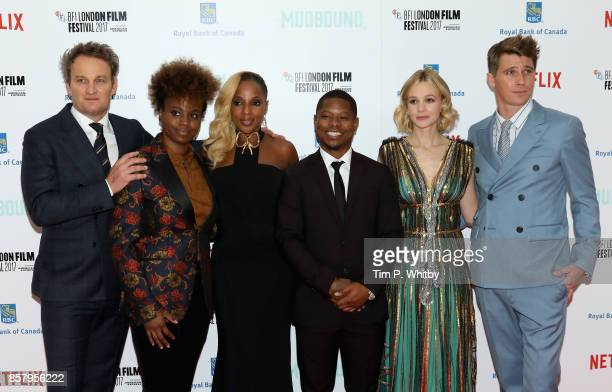 Actor Jason Clarke director Dee Rees actors Mary J Blige Jason Mitchell Carey Mulligan and Garrett Hedlund attend the Royal Bank of Canada Gala...