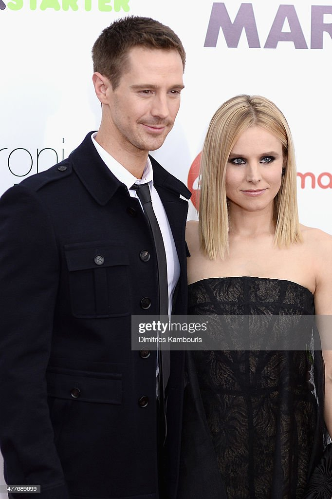 Actor Jason Dohring and Kristen Bell attend the 'Veronica Mars' screening at AMC Loews Lincoln Square on March 10 2014 in New York City