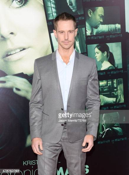 Actor Jason Dohring arrives at the Los Angeles premiere of 'Veronica Mars' at TCL Chinese Theatre on March 12 2014 in Hollywood California
