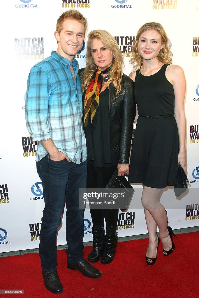 Actor <a gi-track='captionPersonalityLinkClicked' href=/galleries/search?phrase=Jason+Dolley&family=editorial&specificpeople=2471231 ng-click='$event.stopPropagation()'>Jason Dolley</a>, director Salome Breziner and actress <a gi-track='captionPersonalityLinkClicked' href=/galleries/search?phrase=Skyler+Samuels&family=editorial&specificpeople=5534190 ng-click='$event.stopPropagation()'>Skyler Samuels</a> attend the 'Butch Walker: Out Of Focus' Los Angeles premiere at Laemmle's Music Hall 3 on September 17, 2013 in Beverly Hills, California.