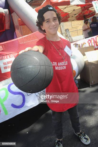 Actor Jason Drucker participates in the Los Angeles Mission's End Of Summer Arts And Education Fair held at Los Angeles Mission on August 26 2017 in...