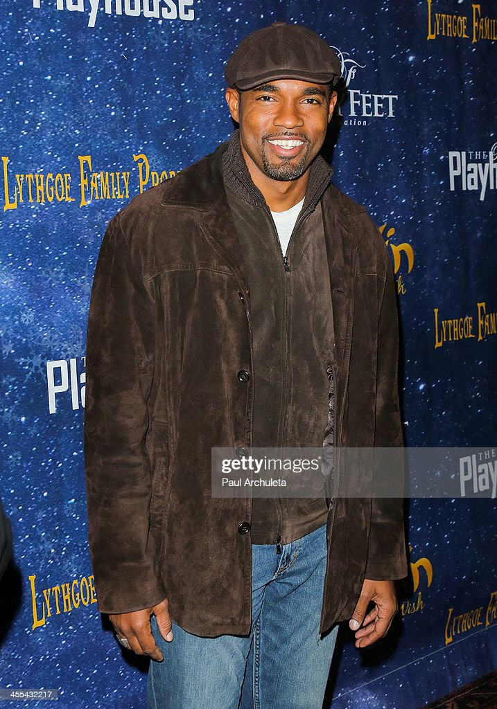 Actor <a gi-track='captionPersonalityLinkClicked' href=/galleries/search?phrase=Jason+George&family=editorial&specificpeople=2566184 ng-click='$event.stopPropagation()'>Jason George</a> attends the opening night of 'Aladdin And His Winter Wish' at the Pasadena Playhouse on December 11, 2013 in Pasadena, California.
