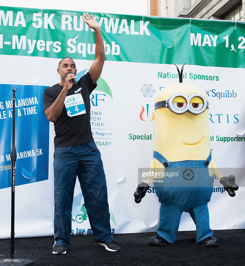 Actor Jason George hosts the Melanoma Foundation's Miles for Melanoma 5k Run/Walk at Universal Studios Backlot on May 1, 2016 in Universal City, California.