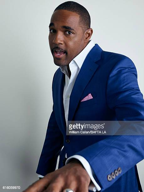 Actor Jason George poses for a portrait BBC America BAFTA Los Angeles TV Tea Party 2016 at the The London Hotel on September 17 2016 in West...