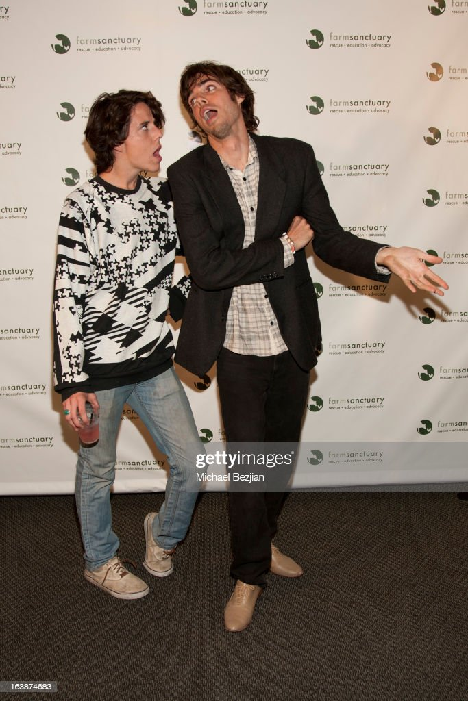 Actor Jason Greene with Reid Ewing attend 'Fun For Animals' Celebrity Poker Tournament and Cocktail Party at Petersen Automotive Museum on March 16, 2013 in Los Angeles, California.