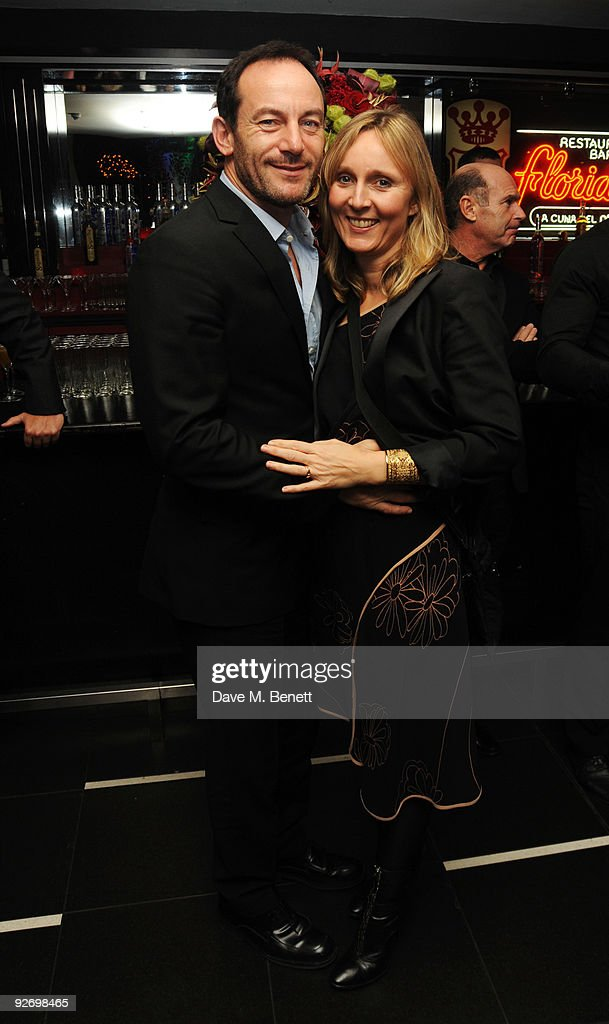 Actor <a gi-track='captionPersonalityLinkClicked' href=/galleries/search?phrase=Jason+Isaacs&family=editorial&specificpeople=212740 ng-click='$event.stopPropagation()'>Jason Isaacs</a> (R) and Emma Hewitt attend the aftershow of The Supper Club, at Floridita on November 3, 2009 in London, England.