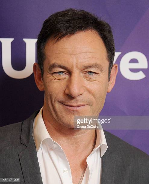 Actor Jason Isaacs arrives at the 2014 Television Critics Association Summer Press Tour NBCUniversal Day 2 at The Beverly Hilton Hotel on July 14...