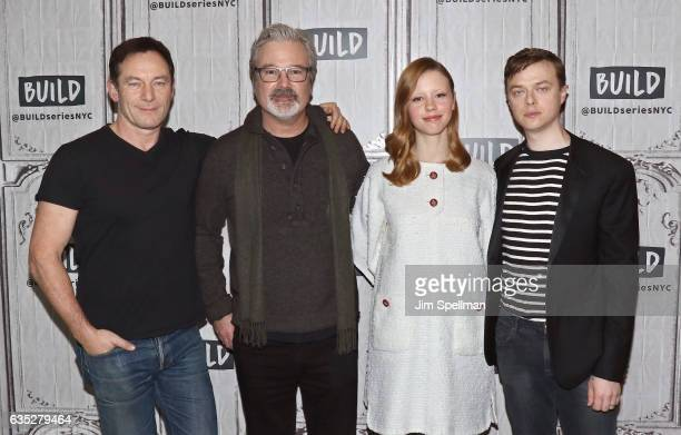 Actor Jason Isaacs director Gore Verbinski actors Mia Goth and Dane DeHaan attend the Build series to discuss 'A Cure For Wellness' at Build Studio...