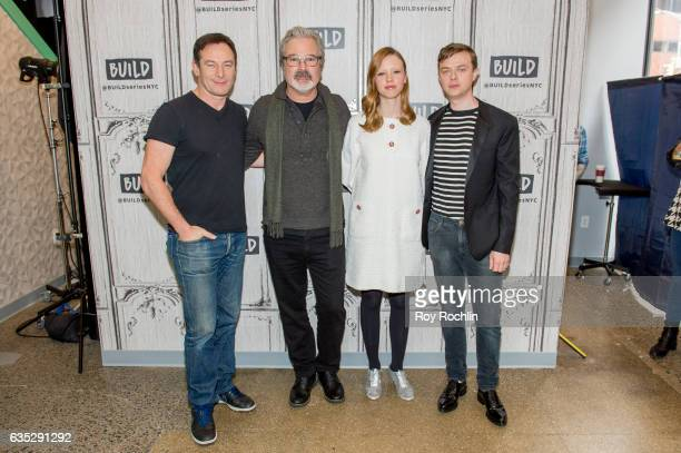 Actor Jason Isaacs director Gore Verbinski actors Mia Goth and Dane DeHaan discuss 'A Cure For Wellness' with The Build Series at Build Studio on...