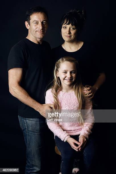 Actor Jason Isaacs director/writer Nikole Beckwith and Avery Phillips from 'Stockholm Pennsylvania' pose for a portrait at the Village at the Lift...