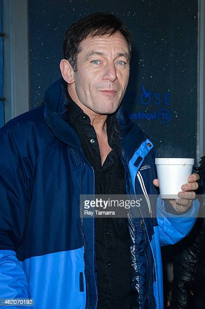 Actor Jason Isaacs enters the Grey Goose Lounge on January 23 2015 in Park City Utah