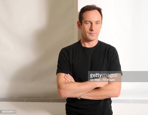 Actor Jason Isaacs poses at a photoshoot in London to promote the new film 'Good' which stars actor Viggo Mortensen and portrays the rise of...