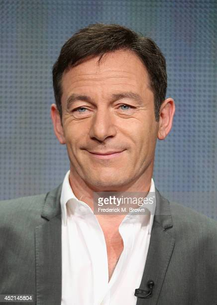 Actor Jason Isaacs speaks onstage at the 'Dig' panel during the NBCUniversal USA Network portion of the 2014 Summer Television Critics Association at...