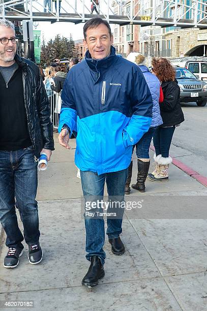 Actor Jason Isaacs walks in Park City on January 23 2015 in Park City Utah