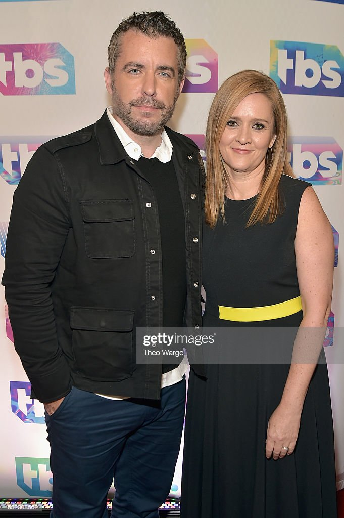 Actor Jason Jones and comedian Samantha Bee attend TBS's A Night Out With FYC Event at The New Museum on May 17 2016 in New York City