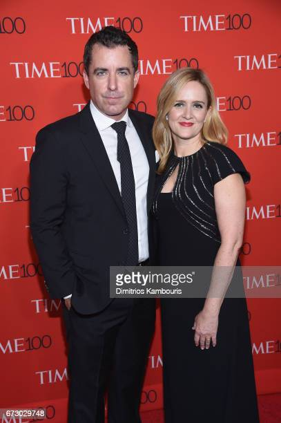 Actor Jason Jones and TV personality Samantha Bee attends the 2017 Time 100 Gala at Jazz at Lincoln Center on April 25 2017 in New York City