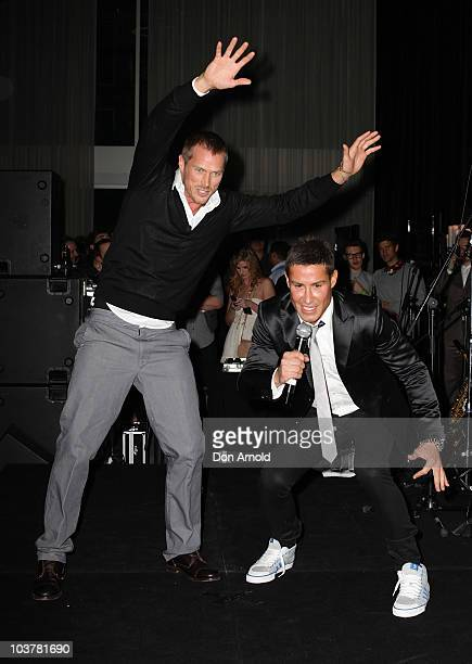 Actor Jason Lewis from 'Sex and the City' and event MC Adam Williams promote the new Xbox 360 Kinect controllerfree interactive experience at The Ivy...