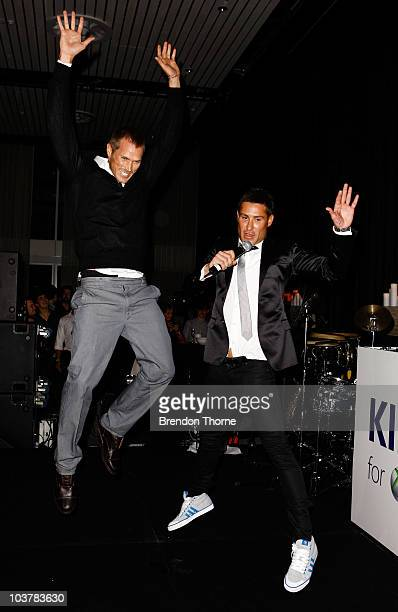 Actor Jason Lewis from 'Sex and the City' promotes the new Xbox 360 Kinect controllerfree interactive experience with choreoghapher Adam Williams at...