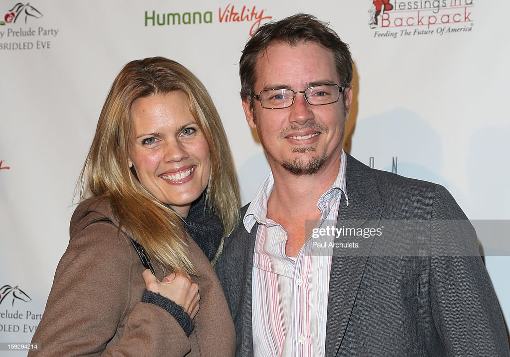 Actor <a gi-track='captionPersonalityLinkClicked' href=/galleries/search?phrase=Jason+London&family=editorial&specificpeople=703967 ng-click='$event.stopPropagation()'>Jason London</a> (R) and his wife Sophia London (L) attend the Los Angeles Unbridled Derby prelude party at The London Hotel on January 10, 2013 in West Hollywood, California.
