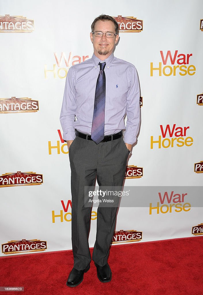 Actor <a gi-track='captionPersonalityLinkClicked' href=/galleries/search?phrase=Jason+London&family=editorial&specificpeople=703967 ng-click='$event.stopPropagation()'>Jason London</a> arrrives at the opening night for 'War Horse' at the Pantages Theatre on October 8, 2013 in Hollywood, California.
