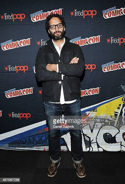 Actor Jason Mantzoukas attends The League press room at 2014 New York Comic Con Day 3 at Jacob Javitz Center on October 11 2014 in New York City